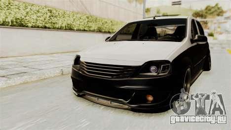Dacia Logan Facelift Stance для GTA San Andreas вид справа