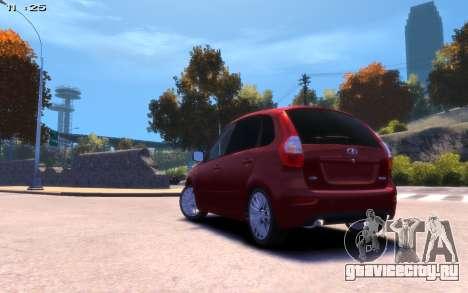 Lada Kalina 2 для GTA 4 вид слева