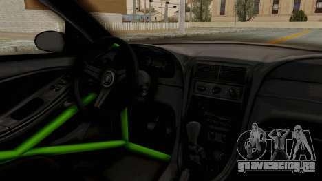 Ford Mustang 1999 Drift Monster Energy Falken для GTA San Andreas вид изнутри