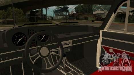 АЗЛК 412 для GTA San Andreas вид сзади
