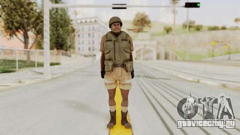 MGSV Phantom Pain CFA Vest v1 для GTA San Andreas второй скриншот