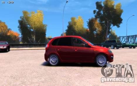 Lada Kalina 2 для GTA 4 вид сзади слева
