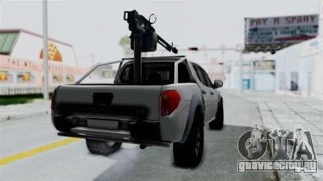 Mitsubishi L200 Army Libyan для GTA San Andreas вид сзади слева