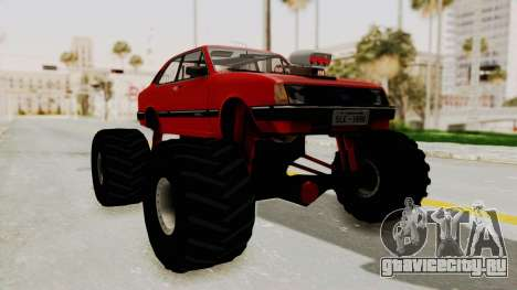 Chevrolet Chevette SL 1988 Monster Truck для GTA San Andreas вид сзади слева