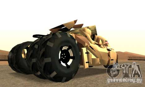 Army Tumbler Rocket Launcher from TDKR для GTA San Andreas вид слева