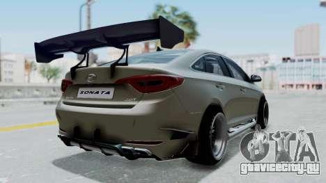 Hyundai Sonata LF 2.0T 2015 v1.0 Rocket Bunny для GTA San Andreas вид сзади слева
