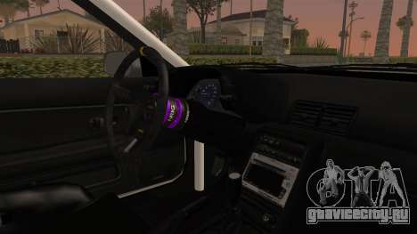 Nissan Skyline R32 Rusty Rebel для GTA San Andreas вид изнутри