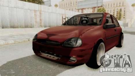 Chevrolet Corsa Hatchback Tuning v1 для GTA San Andreas вид сзади слева