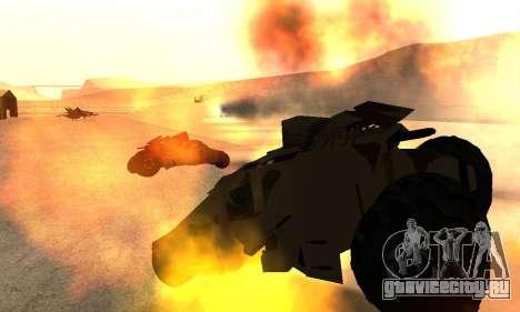 Army Tumbler Rocket Launcher from TDKR для GTA San Andreas вид сбоку