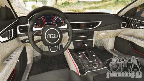 Audi A7 2015 для GTA 5 вид сзади справа