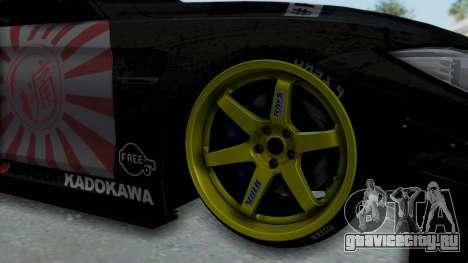 BMW M4 Kurumi Itasha для GTA San Andreas вид сзади
