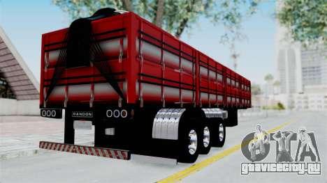 Kenworth T800 Carreta de Arena для GTA San Andreas вид слева