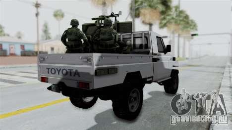 Toyota Land Cruiser Libyan Army для GTA San Andreas вид слева