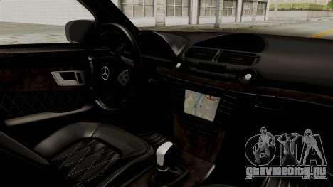 Mercedes-Benz E320 для GTA San Andreas вид изнутри