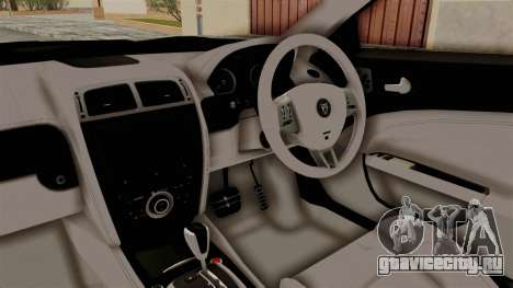 Jaguar XKR-S для GTA San Andreas вид изнутри
