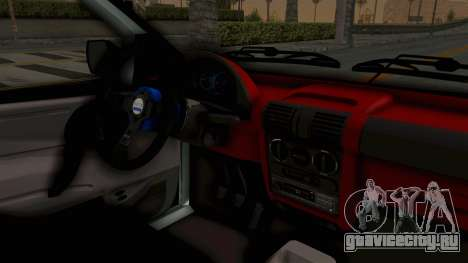 Chevrolet Corsa Wagon Tuning для GTA San Andreas вид изнутри