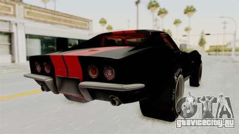 Chevrolet Corvette Stingray C3 1968 Drag для GTA San Andreas вид слева