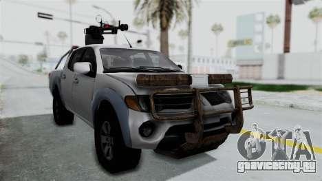 Mitsubishi L200 Army Libyan для GTA San Andreas вид справа