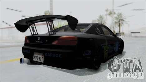 Nissan Silvia S15 RDT для GTA San Andreas вид сзади слева