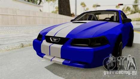 Ford Mustang 1999 Drag для GTA San Andreas вид сзади слева