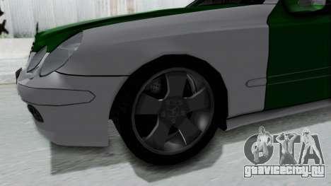 Mercedes-Benz E500 Police для GTA San Andreas вид сзади