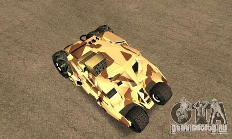Army Tumbler Rocket Launcher from TDKR для GTA San Andreas вид сзади