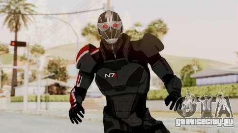 ME2 Shepard Default N7 Armor Recoon Hood Helmet для GTA San Andreas