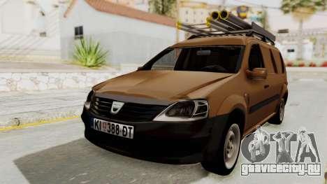 Dacia Logan MCV Van для GTA San Andreas вид сзади слева