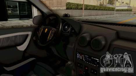 Dacia Logan Facelift Stance для GTA San Andreas вид изнутри