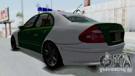 Mercedes-Benz E500 Police для GTA San Andreas вид сзади слева