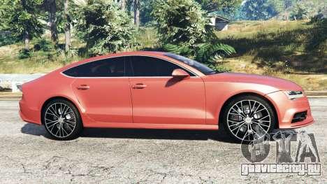 Audi A7 2015 для GTA 5 вид слева