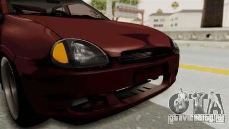 Chevrolet Corsa Hatchback Tuning v1 для GTA San Andreas вид сверху