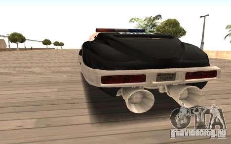 Flying Police для GTA San Andreas вид сзади слева
