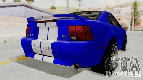 Ford Mustang 1999 Drag для GTA San Andreas вид справа