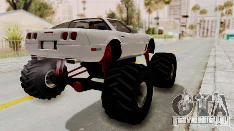 Chevrolet Corvette C4 Monster Truck для GTA San Andreas вид сзади слева