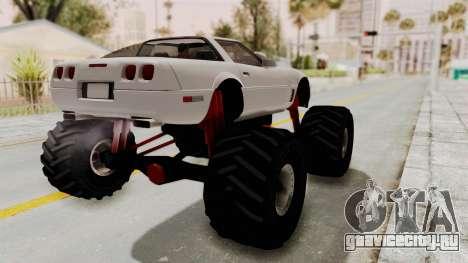 Chevrolet Corvette C4 Monster Truck для GTA San Andreas вид сзади слева