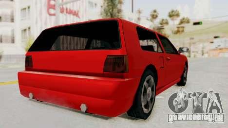 Flash Sport для GTA San Andreas вид слева