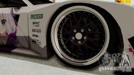 Mazda RX-7 FC Itasha для GTA San Andreas вид сзади