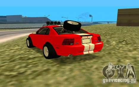 Ford Mustang 1999 для GTA San Andreas вид слева