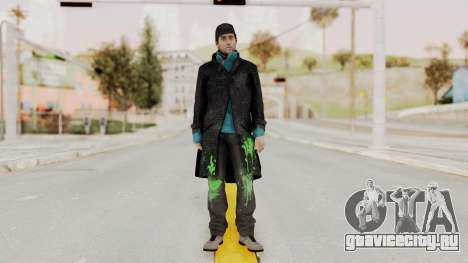 Watchdogs Aiden Pierce DedSec Outfit для GTA San Andreas второй скриншот