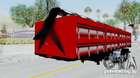 Kenworth T800 Carreta de Arena для GTA San Andreas вид справа