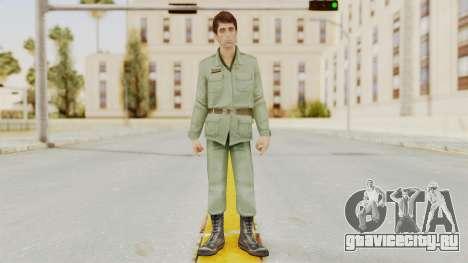Scarface Tony Montana Army Costume для GTA San Andreas второй скриншот