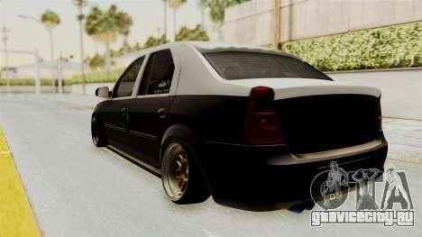 Dacia Logan Facelift Stance для GTA San Andreas вид сзади слева