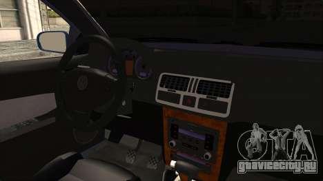 Volkswagen Bora 1.8T для GTA San Andreas вид изнутри