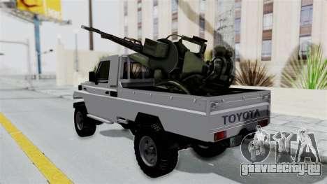 Toyota Land Cruiser Libyan Army для GTA San Andreas вид сзади слева