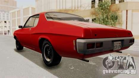 Holden Monaro GTS 1971 SA Plate HQLM для GTA San Andreas вид справа