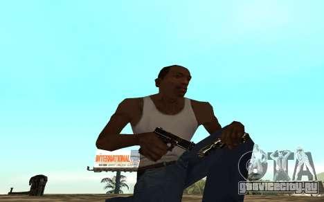 Golden weapon pack для GTA San Andreas третий скриншот