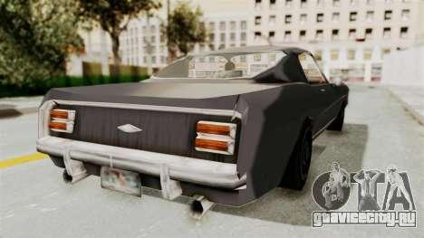 Dominator Classic для GTA San Andreas вид сзади слева
