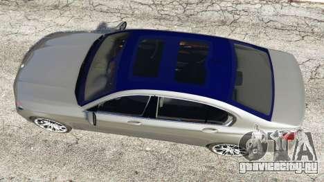 BMW 750Li xDrive (G12) 2016 для GTA 5 вид сзади