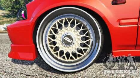 Honda Civic для GTA 5 вид спереди справа